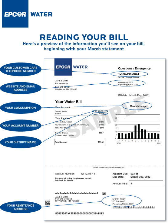Understanding Your Bill Epcor