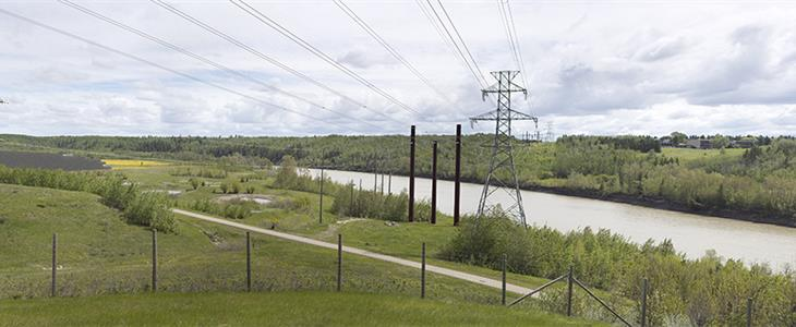 Looking northeast from Anthony Henday (located southwest of project site